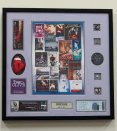 Custom Framed Shadowbox with Memorabilia