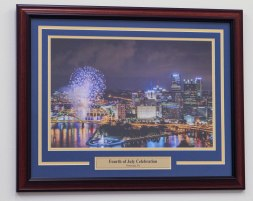 Custom Framed Print with Custom Engraved Nameplate