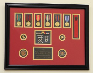 Custom Framed Medal Award with Medallions
