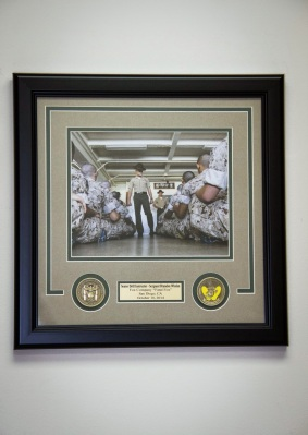 Custom Framed Employee Recognition with Medallions