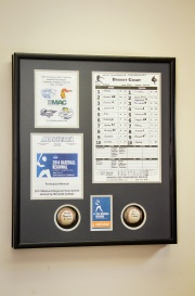 Custom Framed Baseball Shadowbox with Memorabilia
